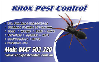 New Business Partner – Knox Pest Control
