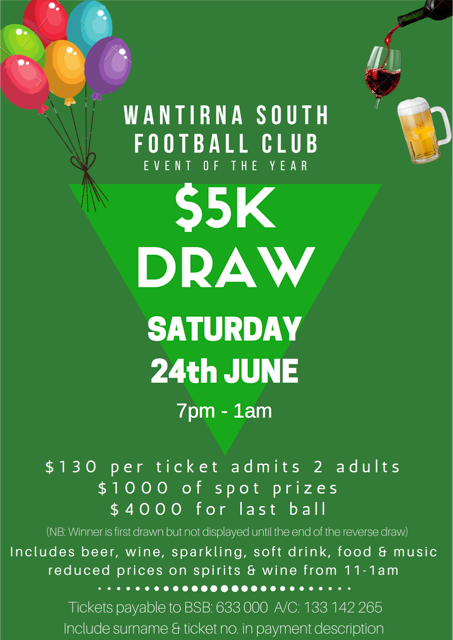 Major Draw – June 24th